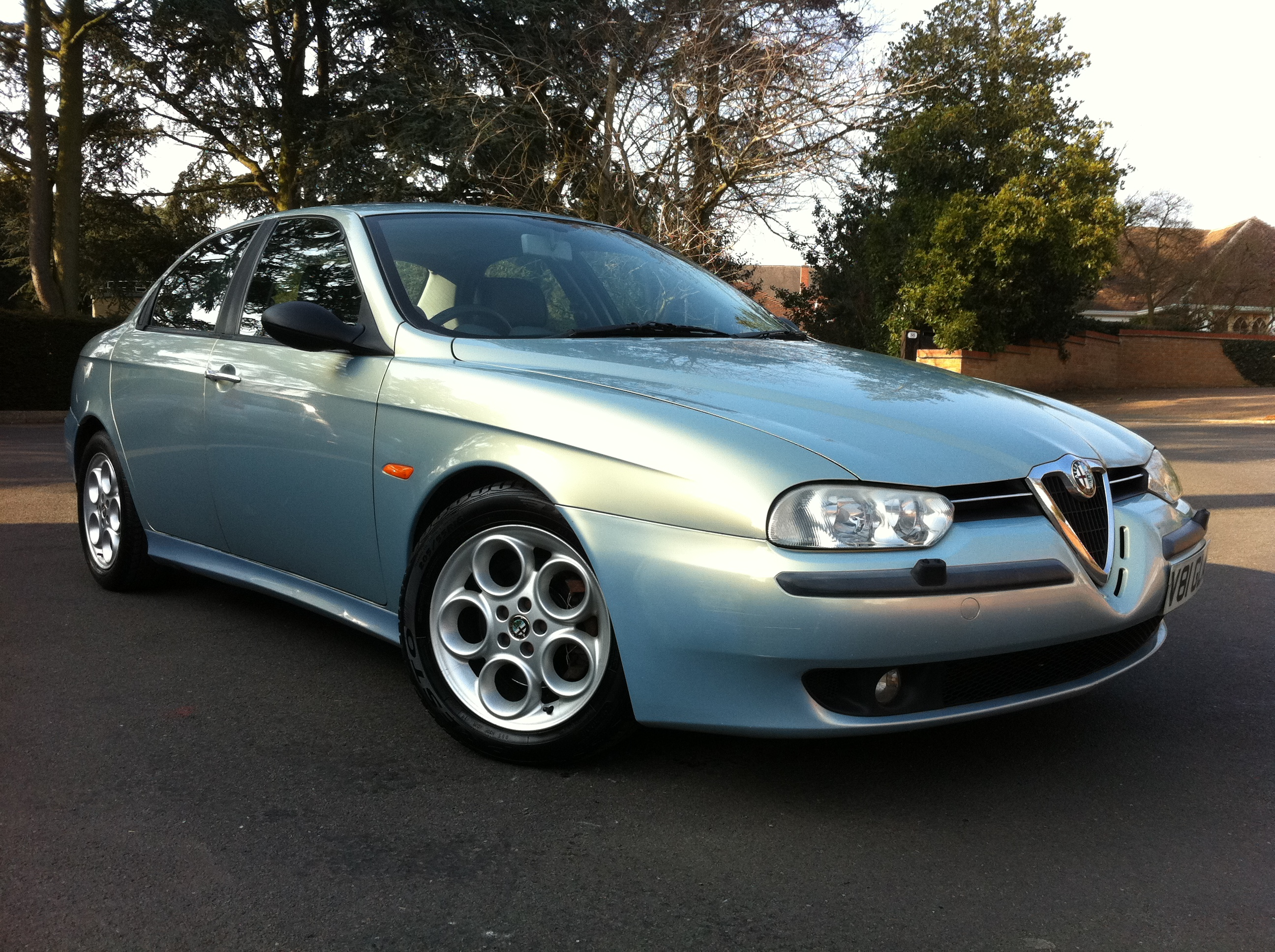 alfa romeo 156 2 5 v6 24v 4dr full leather full service history tj sports and prestige. Black Bedroom Furniture Sets. Home Design Ideas